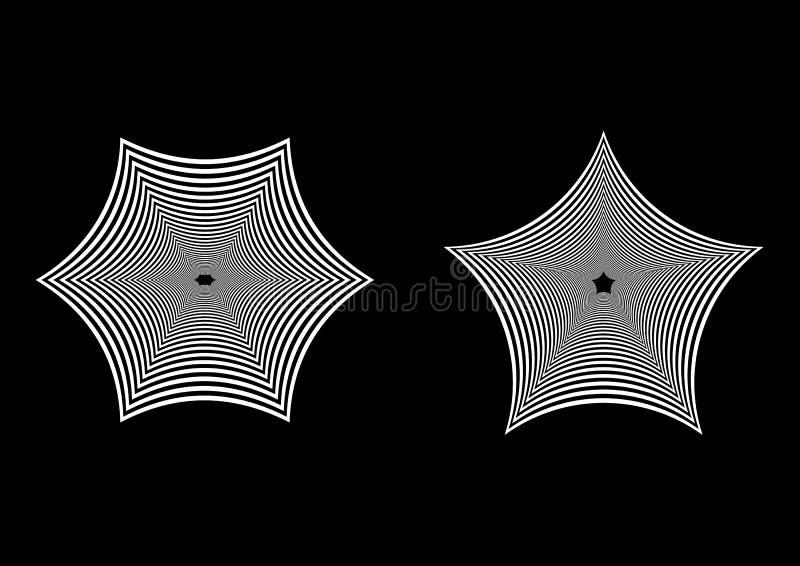 Geometrisk abstrakt svartvit bakgrund stock illustrationer