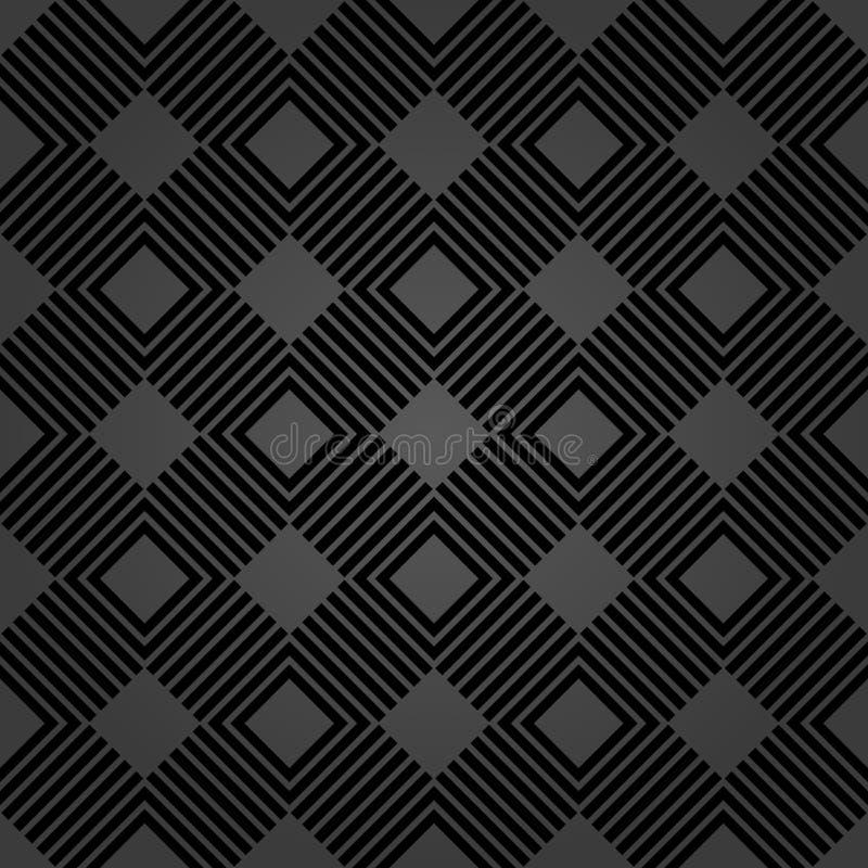 Geometrisk abstrakt vektormodell Geometrisk modern mörk prydnad vektor illustrationer