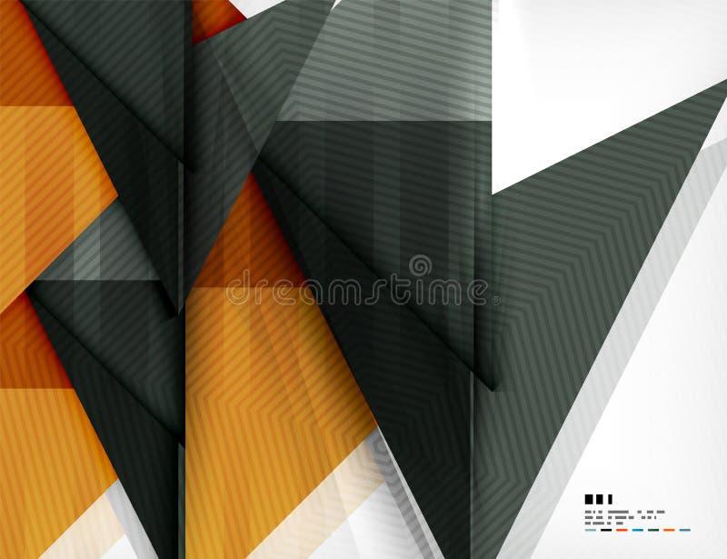Geometrisk abstraktionaffärsaffisch royaltyfri illustrationer