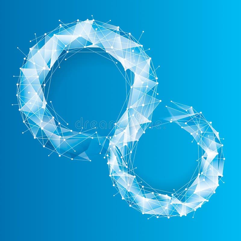 Geometrisk bakgrund för blå Tech royaltyfri illustrationer