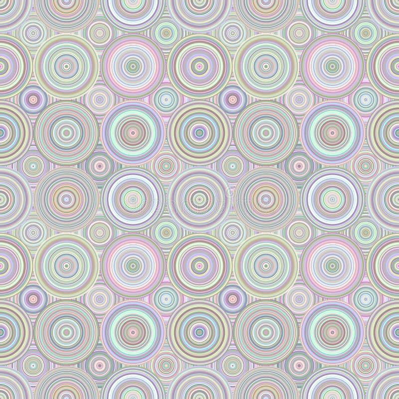 Geometrisk bakgrund för cirkelmosaikmodell - repeatable diagram vektor illustrationer