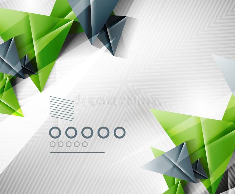 Geometrisk bakgrund för formabstrakt begrepptriangel vektor illustrationer