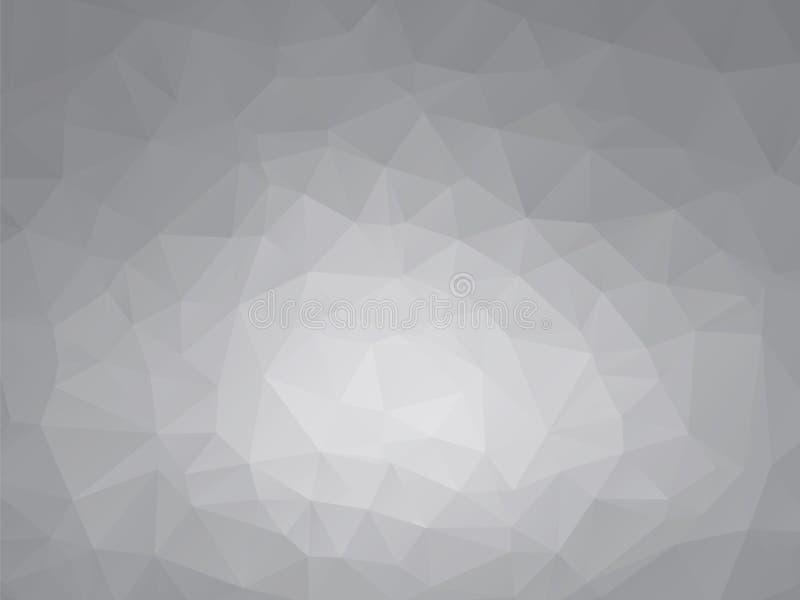 Geometrisk bakgrund för grå sten stock illustrationer