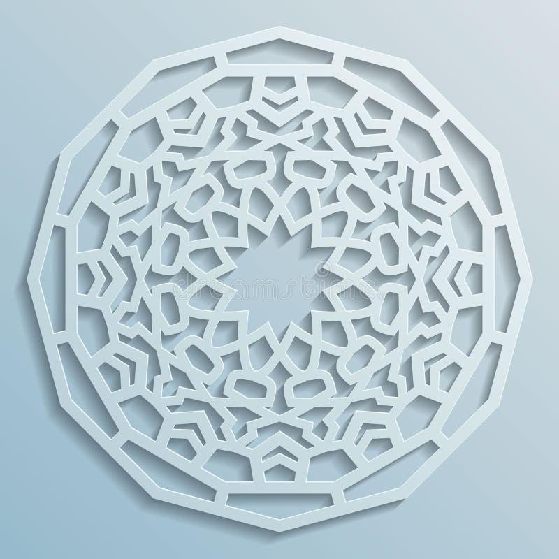 Geometrisk bakgrund för modell för prydnadarabiskarunda - dekorativ perser royaltyfri illustrationer