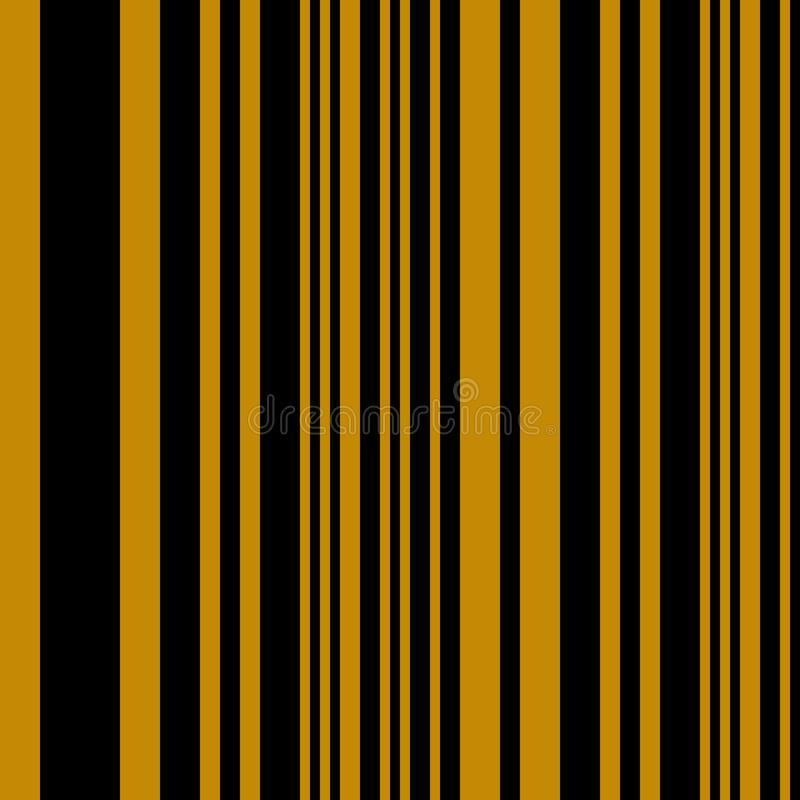 Geometrisk bakgrund för sömlöst abstrakt begrepp för bandvektormodell med färgrika vertikala linjer senapsvart royaltyfri illustrationer