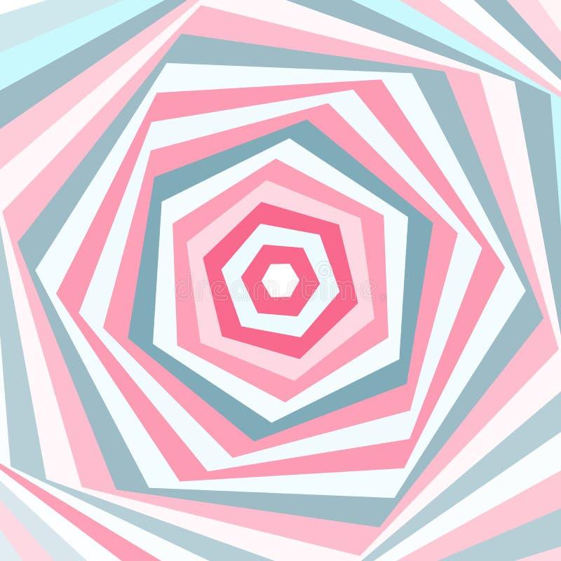 Geometrisk bakgrund för vektor i mjuka pastellfärgade färger stock illustrationer