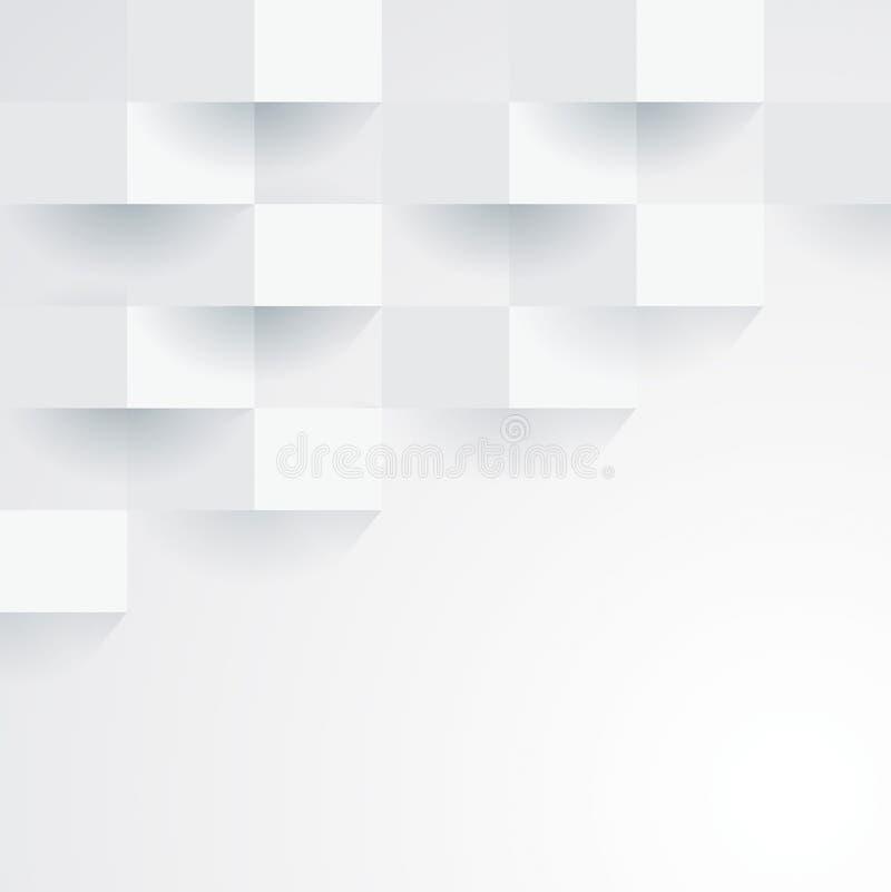 Geometrisk bakgrund för vit vektor. vektor illustrationer