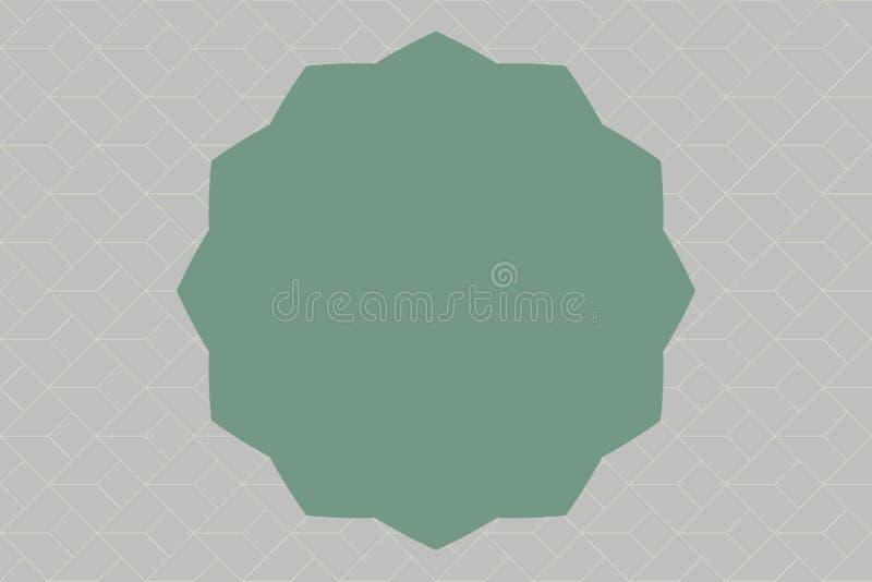 Geometrisk beståndsdel tolv 12 för plan för designaffärsvektor för illustration för begrepp tom för kopia bakgrund för utrymme mo vektor illustrationer