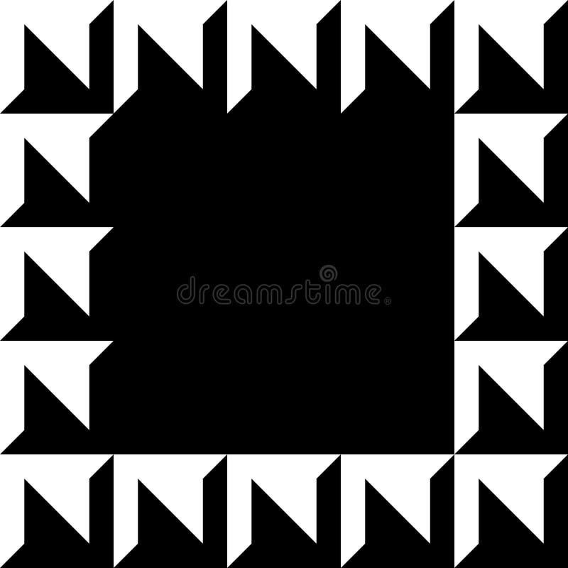 Geometrisk bild, fotoram i squarish format royaltyfri illustrationer