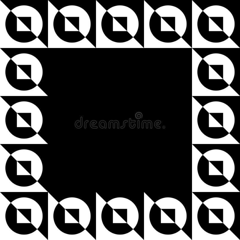 Geometrisk bild, fotoram i squarish format stock illustrationer