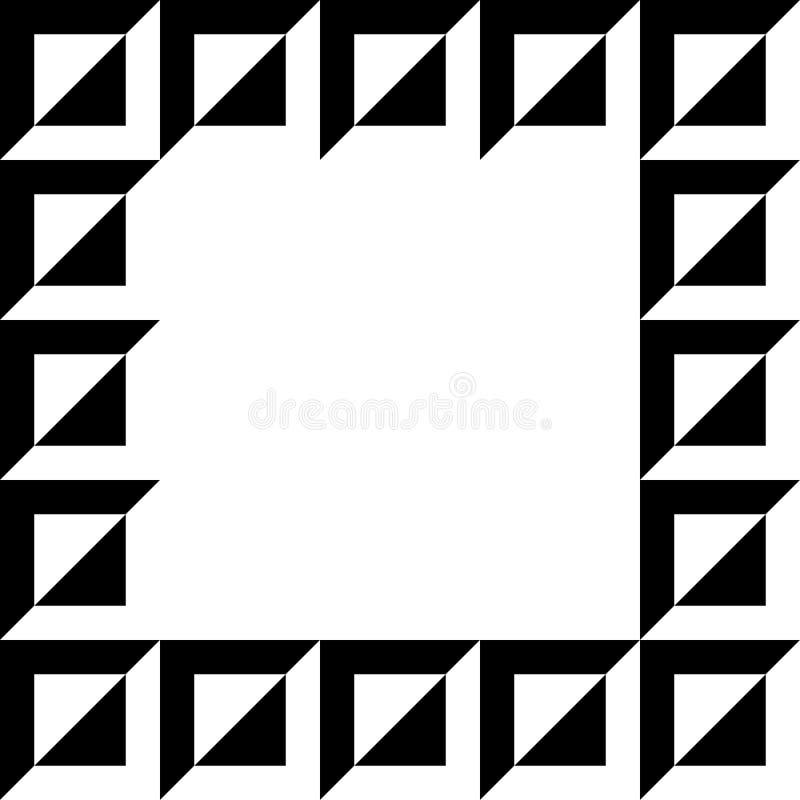 Geometrisk bild, fotoram i squarish format vektor illustrationer