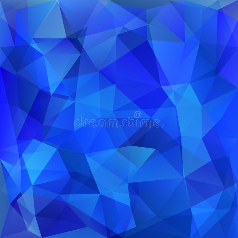 Geometrisk blå bakgrund för abstrakt poligon som består av trianglar royaltyfri illustrationer