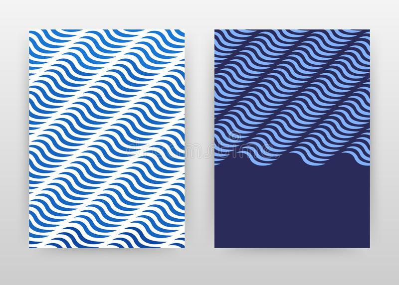 Geometrisk blå design för vågaffärsbakgrund för årsrapporten, broschyr, reklamblad, affisch Blått geometrimodellabstrakt begrepp stock illustrationer