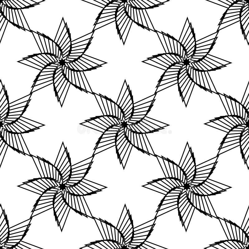 Geometrisk dekorativ stjärna, symbol av solen Islan stjärna seam vektor illustrationer