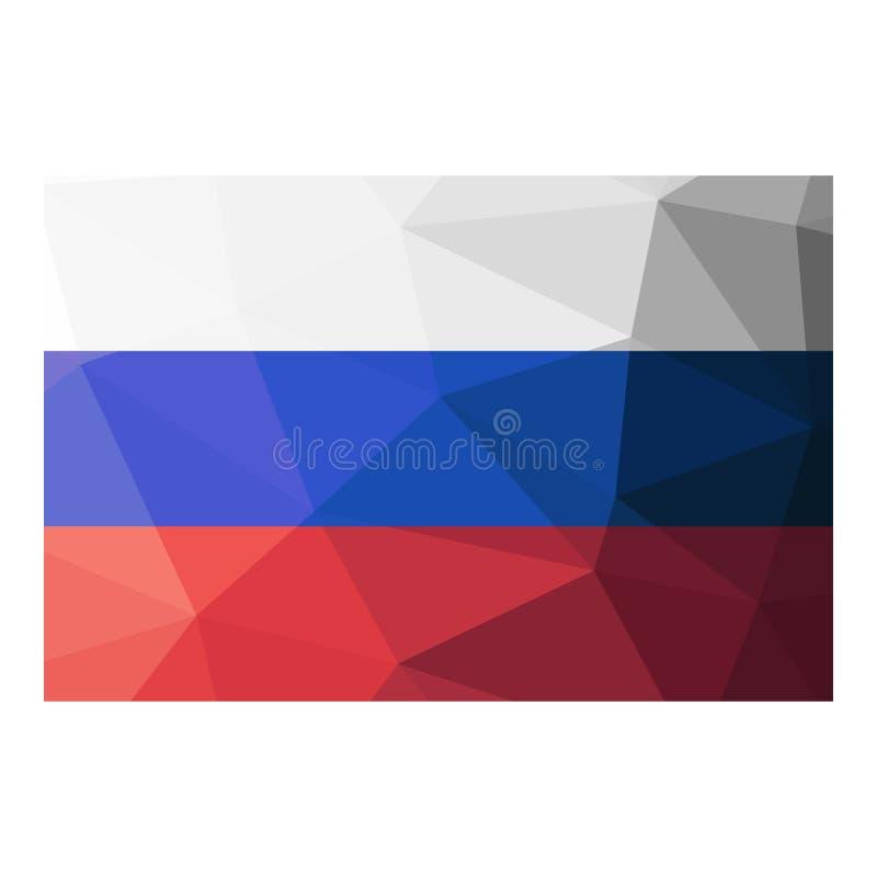 Geometrisk design för Ryssland flagga royaltyfri illustrationer