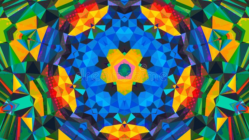 Geometrisk design, mosaik av en vektorkalejdoskop, modell för affärsannonsen, häften, broschyrer stock illustrationer