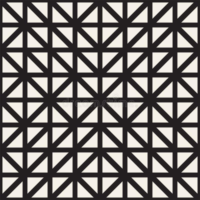 Geometrisk etnisk bakgrund med symmetriska linjer galler seamless vektor för abstrakt modell royaltyfri illustrationer