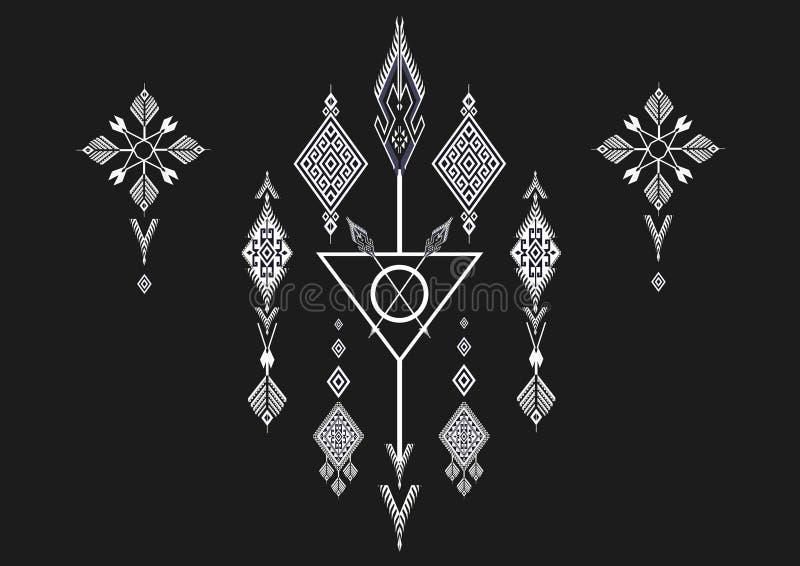 Geometrisk etnisk modell royaltyfri illustrationer
