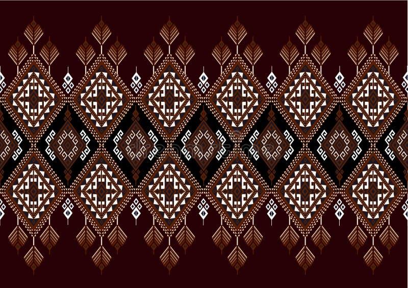 Geometrisk etnisk modell vektor illustrationer