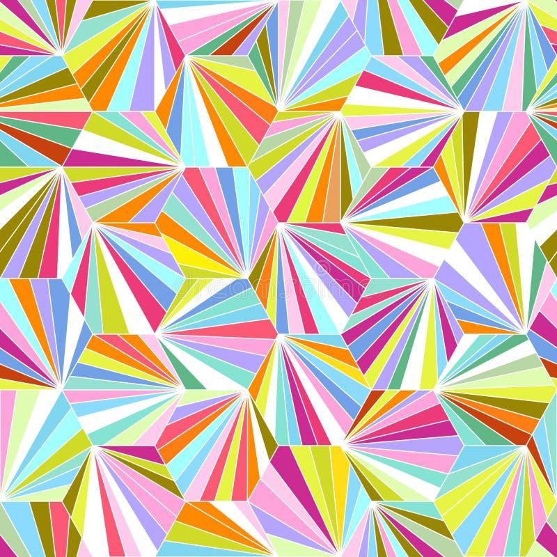 Geometrisk färgrik sömlös vektorbakgrund royaltyfri illustrationer