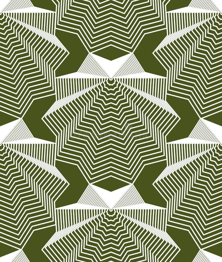 Geometrisk färgrik strimmig sömlös modell, ljus abstra stock illustrationer