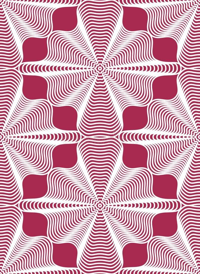 Geometrisk färgrik strimmig sömlös modell, ljus vektorabstra royaltyfri illustrationer