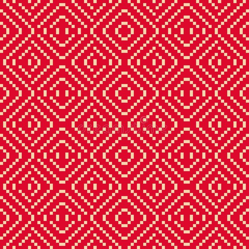 Geometrisk folk prydnad för vektor Traditionell nordisk etnisk sömlös modell royaltyfri illustrationer