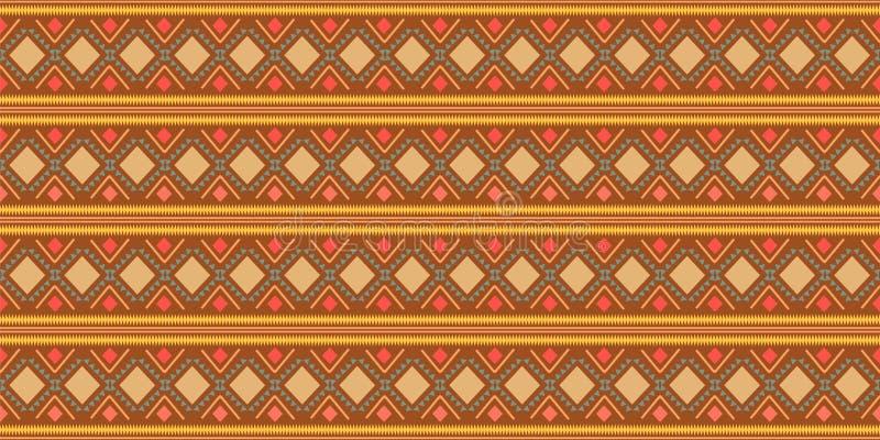 geometrisk folkloreprydnad för kat Stam- etnisk vektortextur Sömlös randig modell i Aztec stil Diagram stam- broderi stock illustrationer