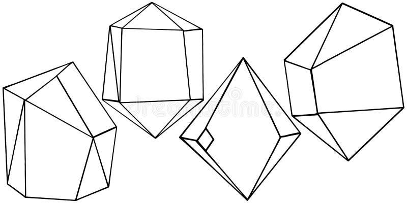 Geometrisk form för vektor Isolerad illustrationbeståndsdel Mosaisk form royaltyfri illustrationer