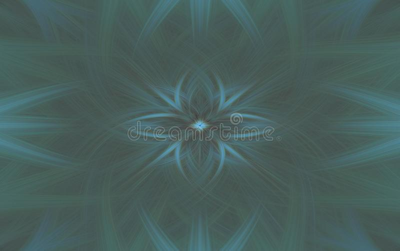 Geometrisk fractal f?r turkosmodellbakgrund bevekelsegrund royaltyfri illustrationer