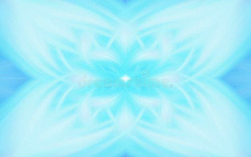 Geometrisk fractal f?r turkosmodellbakgrund r?k royaltyfri illustrationer