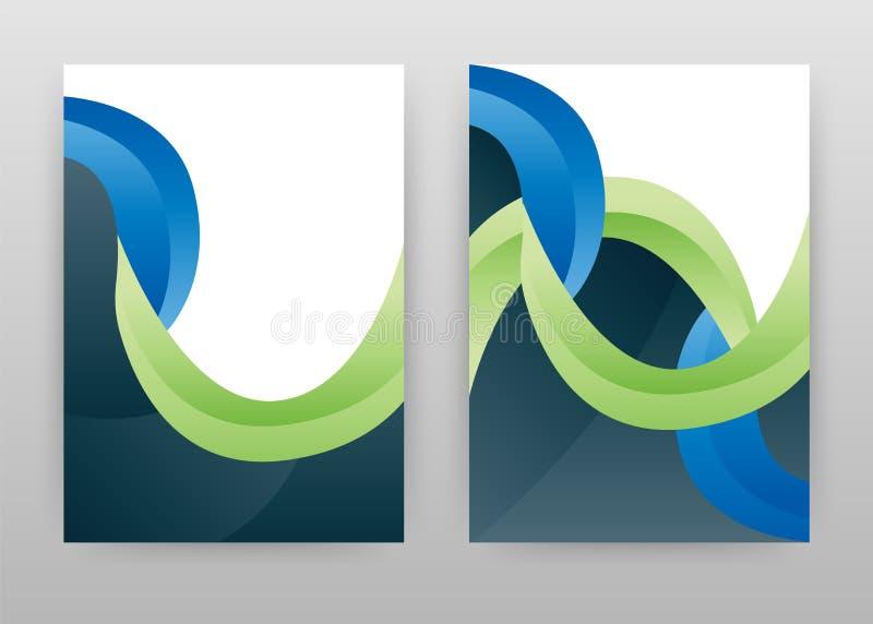 Geometrisk grön blå design för årsrapporten, broschyr, reklamblad, affisch Abstrakt geometrisk bakgrundsvektorillustration för stock illustrationer