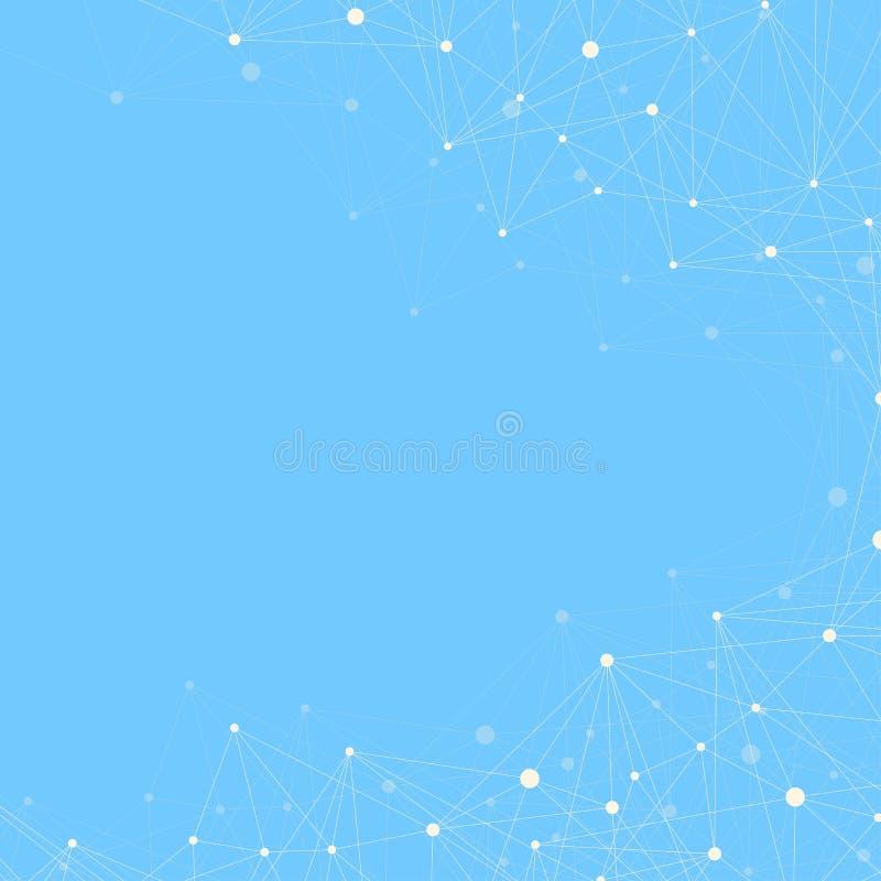Geometrisk grafisk bakgrundsmolekyl och kommunikation Stort datakomplex med sammansättningar Fodrar plexusen, minsta samling royaltyfria foton