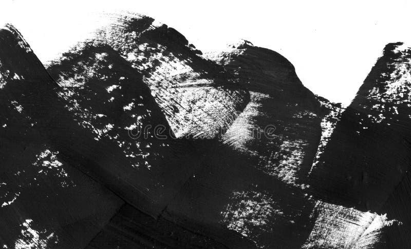 Geometrisk grafittiabstrakt begreppbakgrund Tapet med olje- vattenfärgeffekt Svart textur för slaglängd för akrylmålarfärg på arkivbild