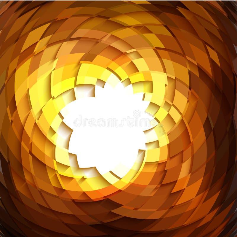 Geometrisk guld- bakgrund för explosion