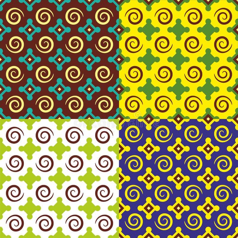 Geometrisk illustration för vektortegelplatta royaltyfria bilder