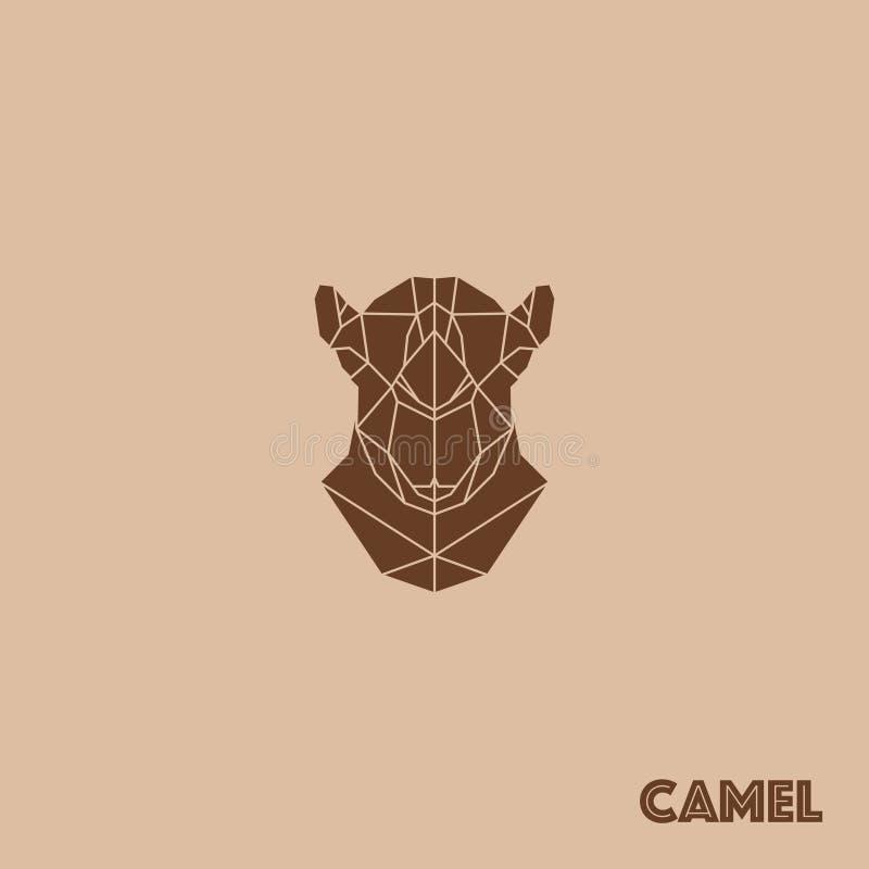 Geometrisk kamel för abstrakt triangel royaltyfri illustrationer