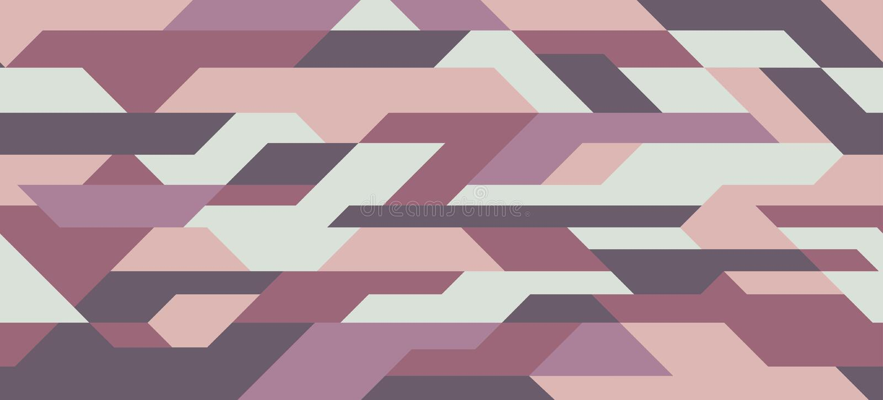 Geometrisk kamouflagemodell Futuristisk Sci Fi mosaikbakgrund, sömlös textur Stads- bekläda stil som maskerar camorepetitionpri stock illustrationer