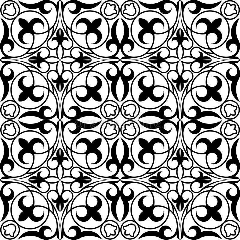 geometrisk kazakhprydnad stock illustrationer