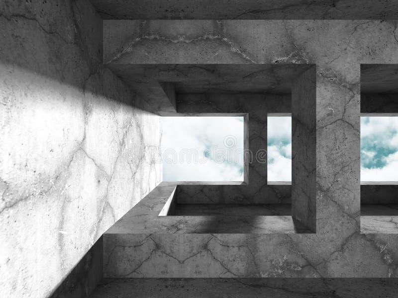 Download Geometrisk Konkret Arkitektur Töm Backgr För Den Moderna Designen För Rum Stock Illustrationer - Illustration av tomt, clean: 78729258