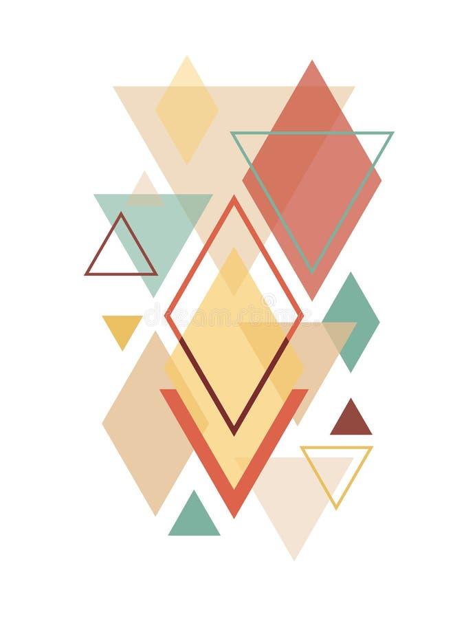 Geometrisk konst för Minimalist skandinavabstrakt begrepp arkivfoton