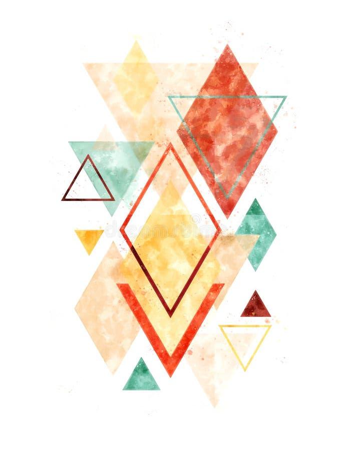 Geometrisk konst för Minimalist skandinavabstrakt begrepp royaltyfri bild