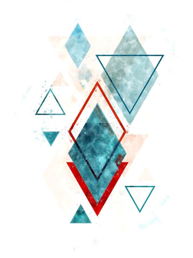 Geometrisk konst för Minimalist skandinavabstrakt begrepp royaltyfri fotografi