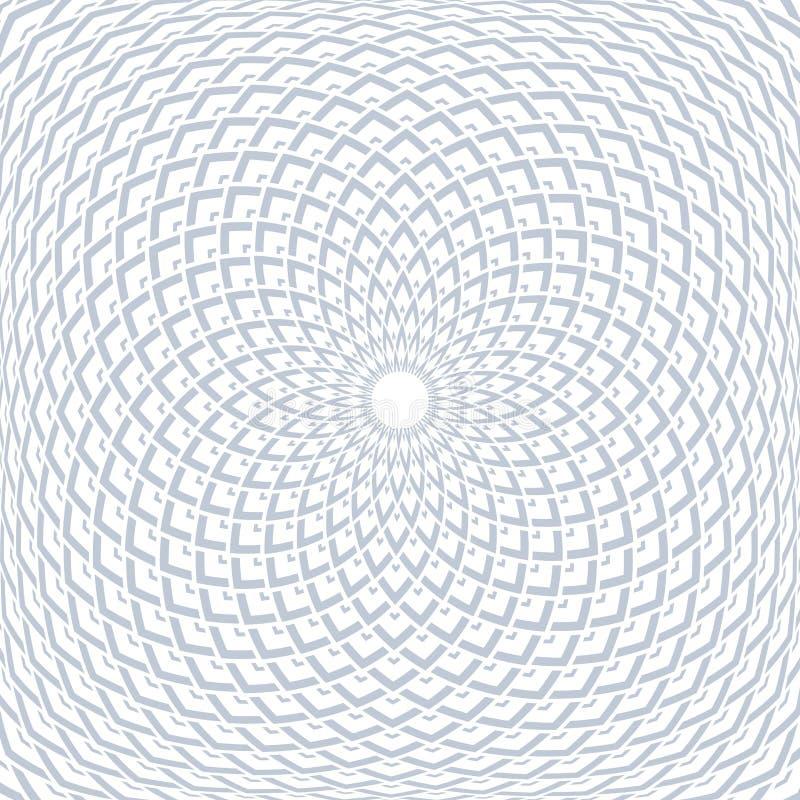 Geometrisk konvex modell för rotation Abstrakt design vektor illustrationer