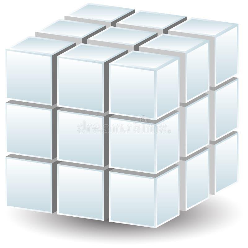 geometrisk kub vektor illustrationer