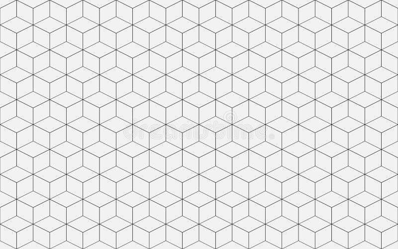 Geometrisk kublinje abstrakt begreppbakgrundsvektor royaltyfri fotografi