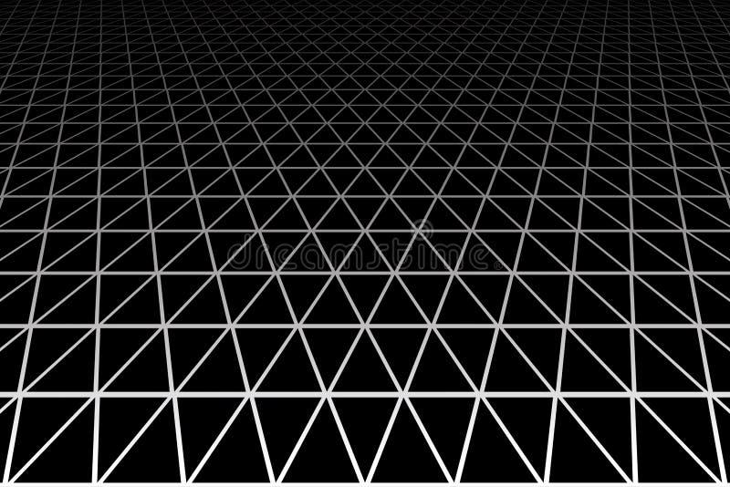 Geometrisk latticed textur Vit bakgrund stock illustrationer