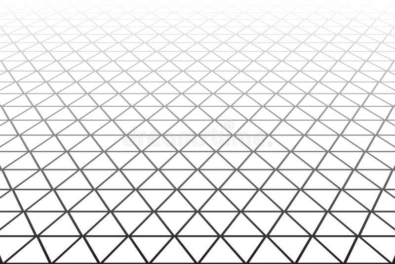 Geometrisk latticed textur Vit bakgrund royaltyfri illustrationer