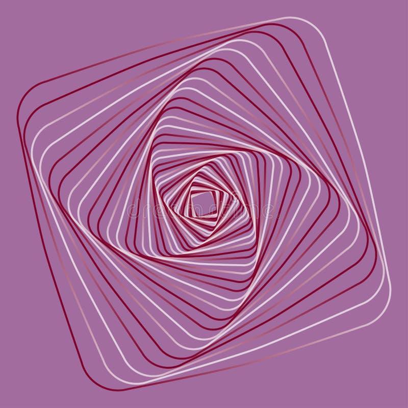 Geometrisk linjär konst, bakgrund royaltyfri illustrationer