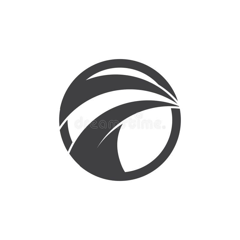 Geometrisk logo för abstrakt snabb gatacirkel vektor illustrationer